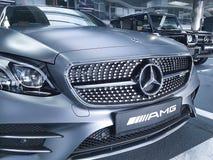 Ucrânia Kiev Benz de Mersedes do carro do estilo da apresentação do 21 de janeiro de 2018, na sala de exposições Imagens de Stock Royalty Free