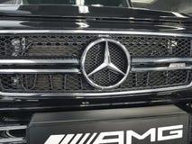 Ucrânia Kiev Benz elegante real de Mersedes do carro do estilo da apresentação do conceito do 21 de janeiro de 2018, na sala de e Fotografia de Stock