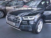 Ucrânia Kiev da apresentação moderna do tipo do conceito do 25 de fevereiro de 2018 carros novos em Audi Motor Show Imagens de Stock