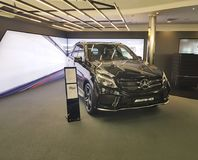 Ucrânia Kiev do projeto novo da classe do 21 de janeiro de 2018 Benz elegante moderno de Mersedes do carro do estilo da apresenta Imagem de Stock Royalty Free