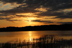 Ucrânia, lago Fotos de Stock Royalty Free