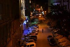Ucrânia, Lviv, opinião Danila Galitsky Square-September 25, 2011: Vista da janela ao quadrado da cidade velha de Lviv Foto de Stock Royalty Free