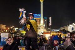 Ucrânia - Maidan: Nascimento sociedade civil de um 24 de dezembro de 2013 Imagem de Stock