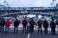 Ucrânia - Maidan: Nascimento sociedade civil de um 21 de dezembro de 2013 Imagem de Stock Royalty Free