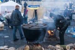 Ucrânia - Maidan: Nascimento sociedade civil de um 24 de dezembro de 2013 Fotografia de Stock Royalty Free