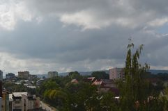Ucrânia ocidental A cidade maravilhosa de Truskavets imagens de stock royalty free