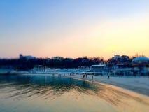 Ucrânia, Odessa, praia do Arcadia, Imagens de Stock Royalty Free