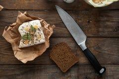 Ucrainan pork lard prepared for lunch. Royalty Free Stock Photo