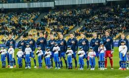 Ucrania contra País de Gales Foto de archivo