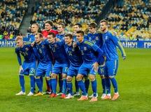 Ucrania contra País de Gales Imagenes de archivo