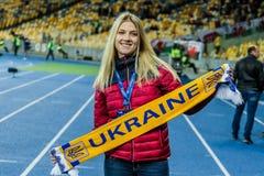 Ucrania contra País de Gales Fotos de archivo