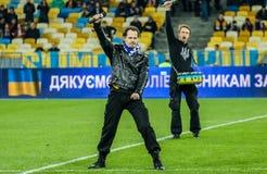 Ucrania contra País de Gales Fotografía de archivo libre de regalías