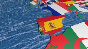 Ucrania en el mapa 3D ilustración del vector