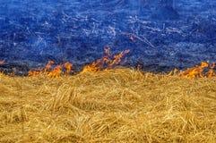 Ucrania en llamas Foto de archivo libre de regalías
