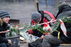 Ucrania euromaidan en Kiev Foto de archivo