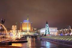 Ucrania, Kiev, área de la independencia Foto de archivo libre de regalías