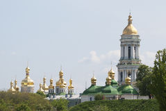 UCRANIA, KIEV - 11 DE MAYO DE 2008: El Dormition santo Kiev-Pechersk L Fotos de archivo libres de regalías