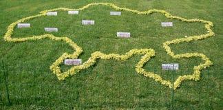 Ucrania, Kiev, el 25 de agosto de 2010 Exposición floral Decoración franco Imágenes de archivo libres de regalías