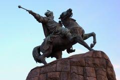 Ucrania, Kiev, monumento a Bogdan Khmelnitsky Imagen de archivo