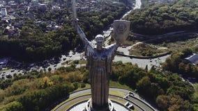 ucrania Kyiv Patria de la madre, cantidad de la visión aérea 4k almacen de video