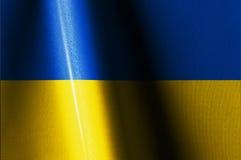 Ucrania señala imágenes por medio de una bandera Imagenes de archivo