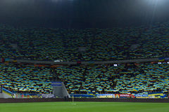Ucrania y Eslovenia Partido de desempate 2016 del EURO de la UEFA Imagenes de archivo