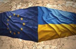 Ucrania y unión europea libre illustration