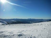 Ucraniano Carpathians do inverno Foto de Stock Royalty Free