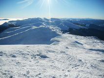 Ucraniano Carpathians do inverno Fotos de Stock Royalty Free