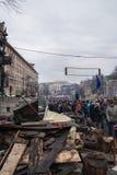 Ucranianos em Euromaidan em Kiev Fotografia de Stock