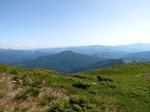 Ucranino Carpathians fotografia stock
