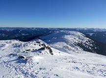 Ucranino Carpathians di inverno Immagine Stock