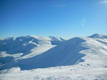 Ucranino Carpathians di inverno Fotografie Stock