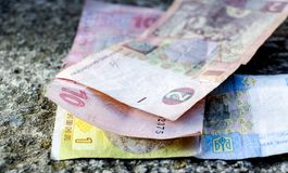 Ucranino Hryvnia Banconote, Fotografia Stock