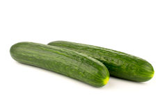 ucumbers su un bianco Fotografie Stock