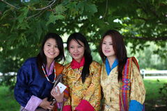Uczciwe damy Bhutan Obraz Royalty Free