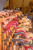 Uczciwy budka dla sprzedaży trzciny i kije Fotografia Stock