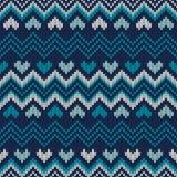 Uczciwy styl Dziający wyspa puloweru projekt Bezszwowy dzianie Tupocze Zdjęcia Royalty Free