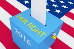 Uczciwy walka wybory pojęcie Obrazy Royalty Free