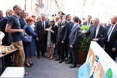 Uczczenie generał Carlo Alberto Dalla Chiesa, Palermo zdjęcie stock