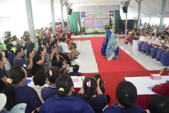 Uczczenie Kartini dzień w Bulu Semarang kobiet ` s więzieniu Obrazy Stock
