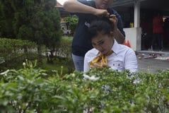 Uczczenie Kartini dzień w Bulu Semarang kobiet ` s więzieniu Zdjęcia Royalty Free