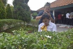 Uczczenie Kartini dzień w Bulu Semarang kobiet ` s więzieniu Zdjęcia Stock