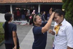 Uczczenie Kartini dzień w Bulu Semarang kobiet ` s więzieniu Obrazy Royalty Free