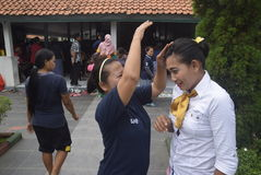 Uczczenie Kartini dzień w Bulu Semarang kobiet ` s więzieniu Fotografia Royalty Free