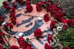 Uczczenie na rocznicie Ali Ismail Korkmaz ` s śmierć fotografia stock