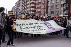 Uczczenie na rocznicie Ali Ismail Korkmaz ` s śmierć obraz royalty free