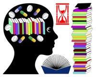 Uczeń bierze mózg uwydatnia leki Zdjęcie Royalty Free