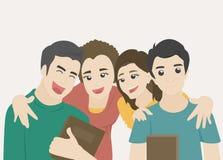 Uczeń grupa ilustracji