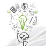 Uczeń - gulgotać z pomysłami Zdjęcia Stock